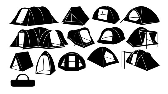 Download Vektor Tenda Dome dalam format Coreldraw (CDR)