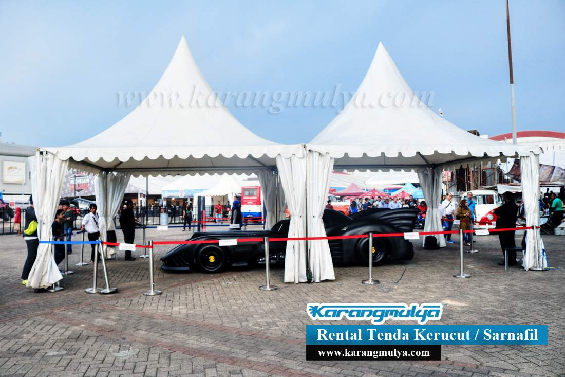 Rental / Penyewaan / Sewa Tenda Srengseng, Kembangan, Jakarta Barat, Rental Tenda Kerucut atau Tenda Sarnafil dengan ukuran 3x3 dan 5x5 meter Harga murah