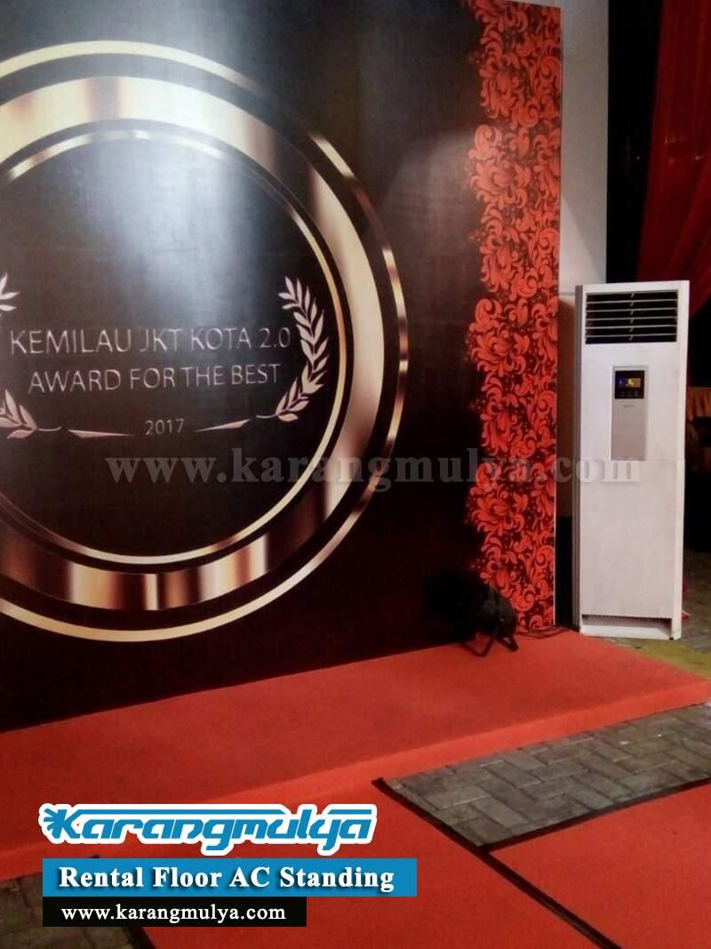 Melihat penggunaan AC Standing Portable 5PK pada event Kemilau Jakarta Kota 2.0 AWARD FOR THE BEST 2017 DKI Jakarta