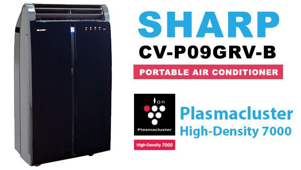 AC Portable CV-P09GRV-B Dengan Plasmacluster Dari Sharp