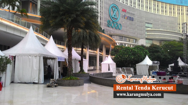 Penyewaan Tenda Rental Tenda Sewa Tenda Keagungan, Taman Sari, Jakarta Barat, Tenda Kerucut atau Tenda Sarnafil dengan ukuran 3x3 dan 5x5 meter Harga murah