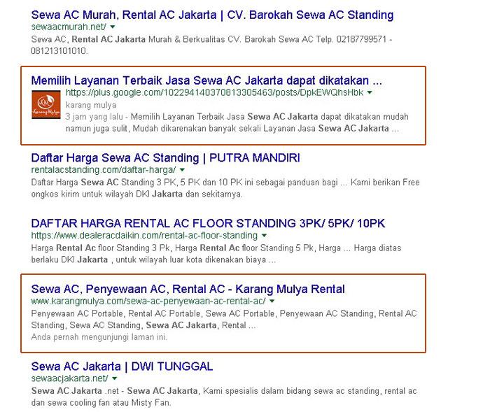 Cara Mencari Jasa Sewa AC Jakarta Melalui Internet atau secara online bagi konsumen dan calon konsumen agar lebih tepat melalui website pencarian dan Sosial Media
