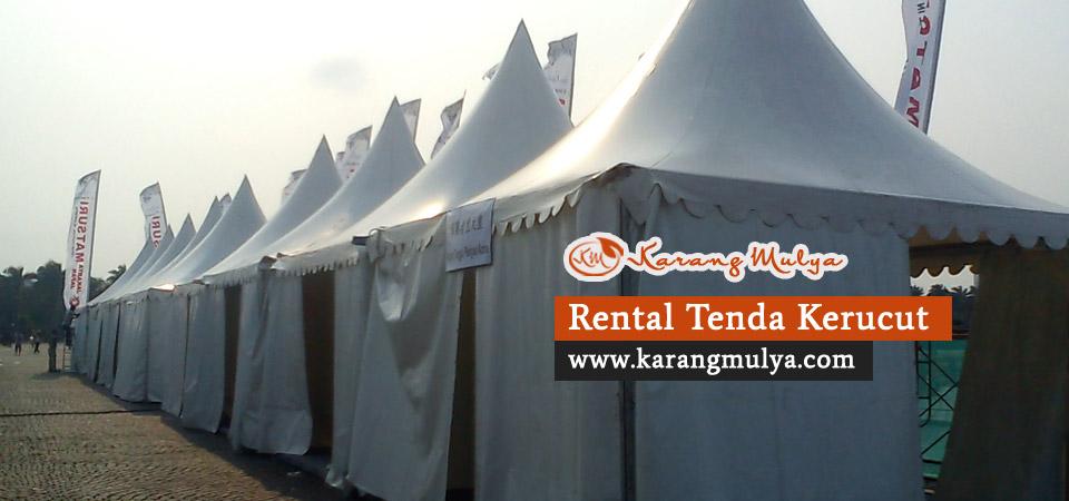 rental tenda, sewa tenda, penyewaan tenda, tenda kerucut