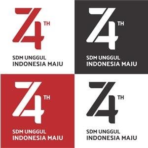 Download Logo HUT RI KE 74 Tahun 2019 17 Agustus 2019 SDM UNGGUL INDONESIA MAJU Format File CorelDraw X7 dan X3, AI, SVG, PNG transparan serta Font yang digunakan