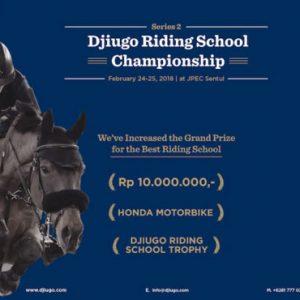 Guna Memperkenalkan aplikasi Djiugo diselenggarakanlah Djiugo Riding School Championship 2017-2018 Depok, Jawa barat, Indonesia